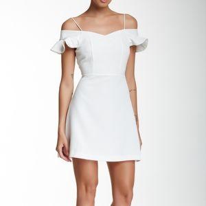 NWT White Cold Shoulder Fit n' Flare Skater Dress